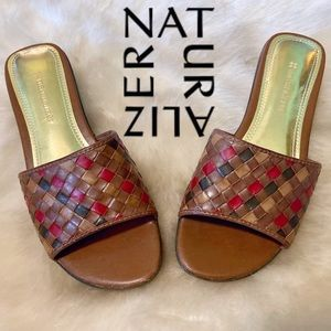 Naturalizer Woven Slide Wedge Sandals Size 6